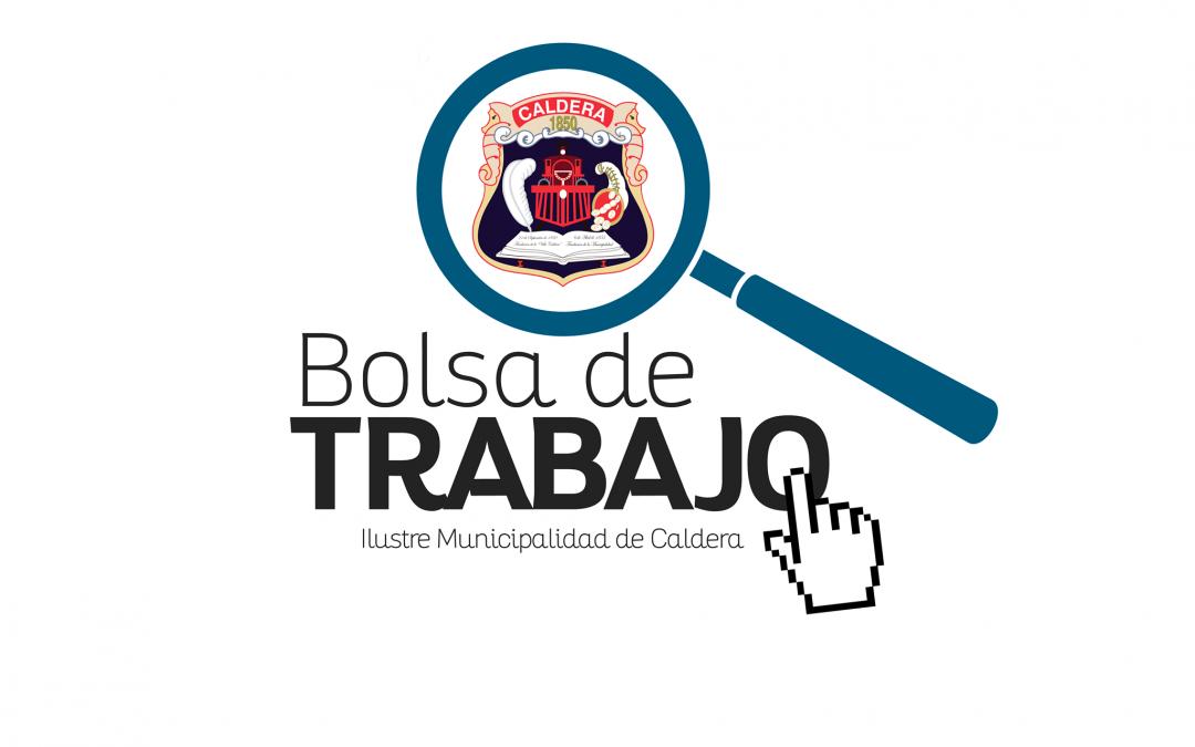 OFERTA LABORAL MUNICIPALIDAD DE CALDERA