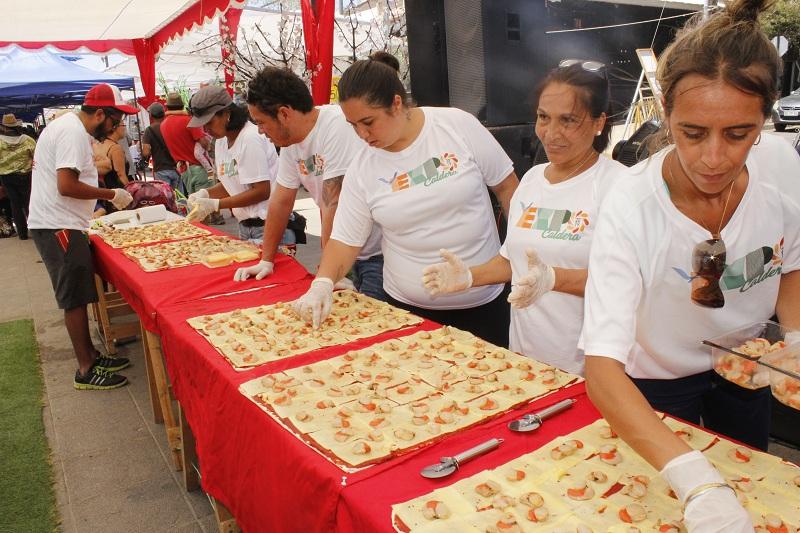 EN CALDERA SE REALIZÓ LA PIZZA MAS GRANDE DE CHILE